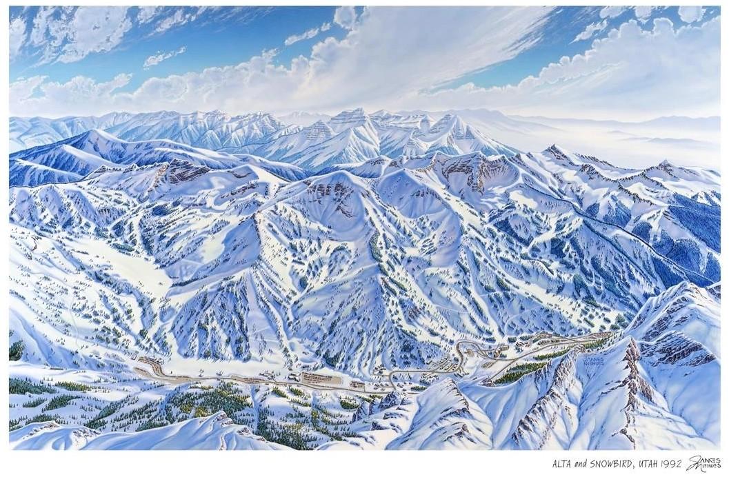 «Alta and Snowboard» 1992 James Niehuies