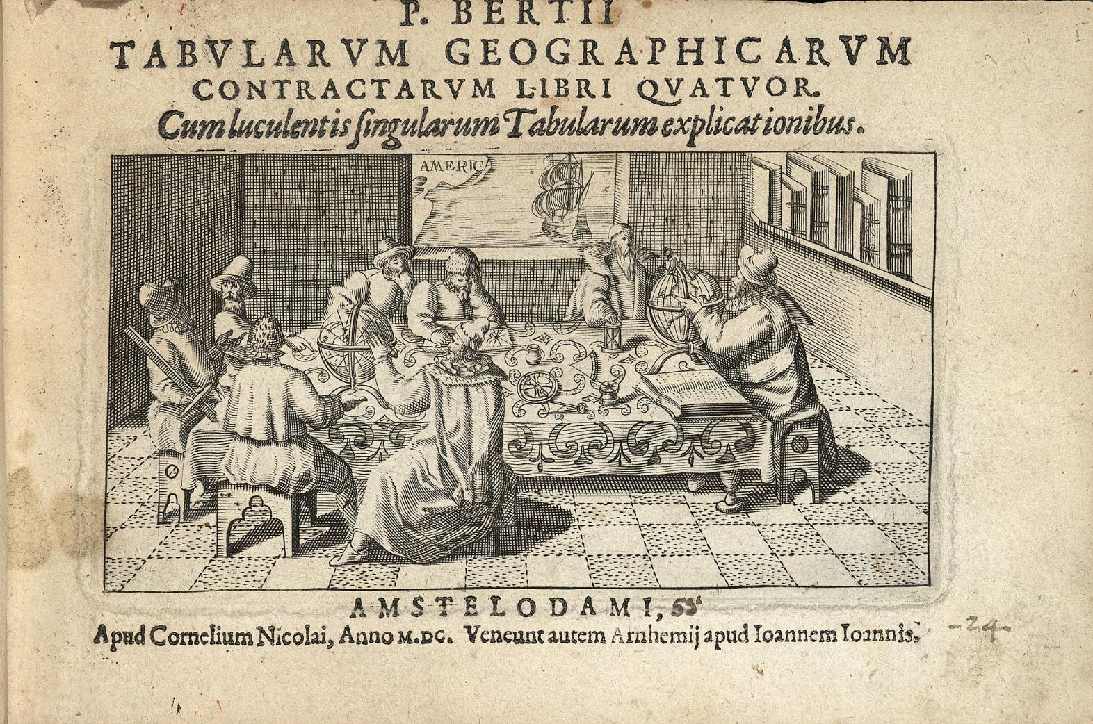 Portada del «Tabularum geographicarum contractarum libri quatuor» (1600)