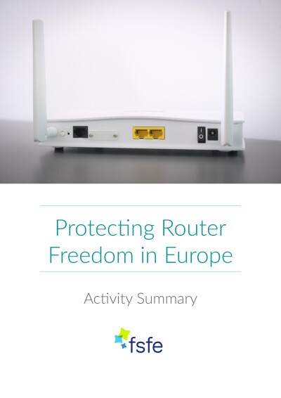 Cover of the Router Freedom Activity Summary