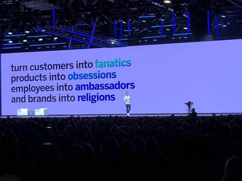 turn customers into fanatics products into obsessions employees into ambassadors and brands into religions